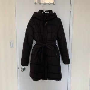 Black H&M MAMA puffer coat